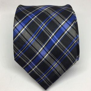 Chaps Silk Blue and Black Tartan Tie